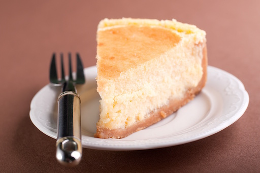 Cheesecake on a plate with a fork